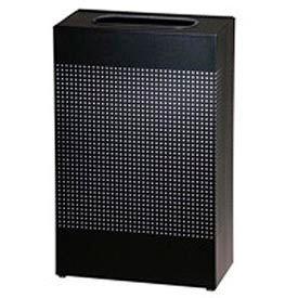 Rubbermaid® Silhouette SR14E Rectangular Open Top Receptacle, 25 Gallon - Black