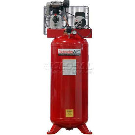 Schrader® Two-Stage Electric Air Compressor SA2560VL, 208V/230V, 5HP, 1PH, 60 Gal