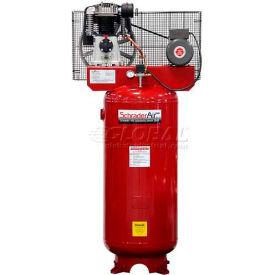 Schrader International Schrader® Two-Stage Electric Air Compressor SA2580V, 230V, 5HP, 1PH, 80 Gal