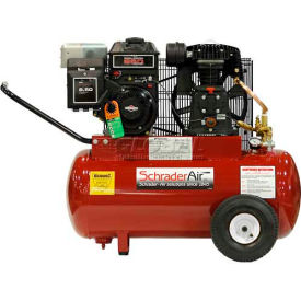 Schrader® B&S Gas Powered Air Compressor SA7520B, B&S Gas Powered, 5.5 HP, 20 Gal.