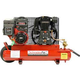 Schrader® B&S Gas Powered Air Compressor SA758B, B&S Gas Powered, 5.5 HP, 8 Gal.