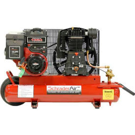Schrader® Two-Stage Gas Powered Air Compressor SA788B, Briggs & Stratton, 8HP, 8 Gal