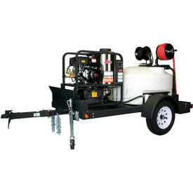 Shark Single Axle Trailer Package W/ SGP-403537E Hot Water Pressure Washer