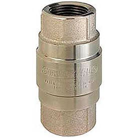 """1-1/2"""" FNPT Nickel-Plated Brass Check Valve with Stainless Steel Poppet"""
