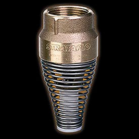 """1-1/2"""" FNPT No-Lead Brass Foot Valve with Buna-S Rubber Poppet"""