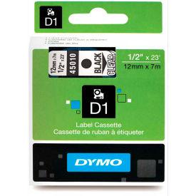 "DYMO® D1 Standard Labels 1/2"" Black on Clear"