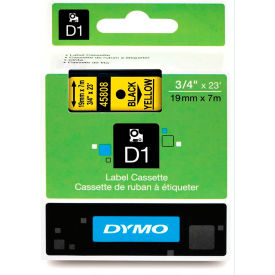 """DYMO® D1 Standard Labels 3/4"""" Black on Yellow"""