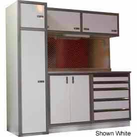 Garage Cabinet Combo Unit, Black