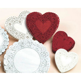 """S&S PE308 4-1/2"""" Round Shaped Doilies - White, Pack of 100"""