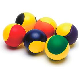 "S&S W8748 Two-Color Foam Balls, Set of 6, 3-1/2""Dia"