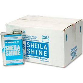 Sheila Shine Stainless Steel Cleaner & Polish, 1 Quart Can 12/Case - SHE2CT