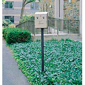 "In Ground Mounting Pole For Smokers Station, Black, 2""Dia x 69""H"