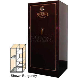 "60"" x 29"" x 27"" Fire Rated Gun Safe 15 Gun Capacity Charcoal Gray Metallic"