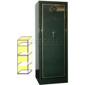 "72"" x 22"" x 23"" 1-Hr Fire Rated Gun Safe w/ 3 Shelves Hunter Green Metallic"