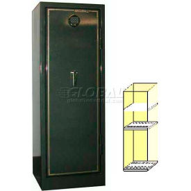 "72"" x 22"" x 23"" 1-Hr Fire Rated Gun Safe 14 Gun Capacity Hunter Green Metallic"