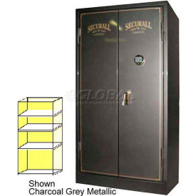 "72"" x 34"" x 36"" 1-Hr Fire Rated Gun Safe w/ 3 Shelves Burgundy Metallic"
