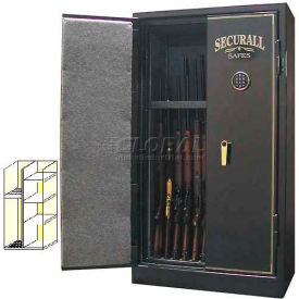 "60"" x 34"" x 20"" 1-Hr Fire Rated Gun Safe 12 Gun Capacity Charcoal Gray Metallic"