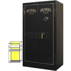 "60"" x 34"" x 20"" 1-Hr Fire Rated Gun Safe 24 Gun Capacity Black Metallic"