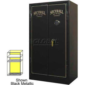"60"" x 34"" x 20"" 1-Hr Fire Rated Gun Safe 24 Gun Capacity Burgundy Metallic"