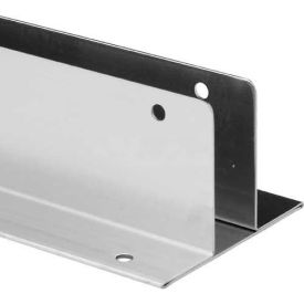 "2 Ear Wall Bracket, 3/4"" x 57"", 18Ga., No Welds, St. Stainless Steel"