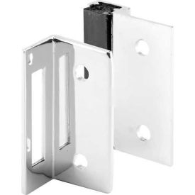Two Piece Strike & Keeper, Outswing, Chrome - Pkg Qty 2