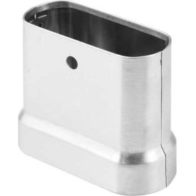"""423-Ss20 Pil. Shoe 20"""" x 1-1/4"""" x 3"""" H Stainless Steel, Oval End - AP"""