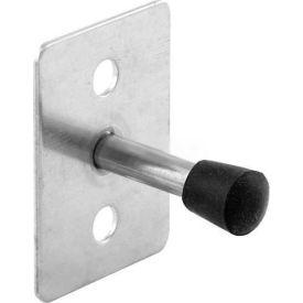 "Door Stop, 2"" Projection, Standard Duty, St. Stainless Steel - Pkg Qty 4"