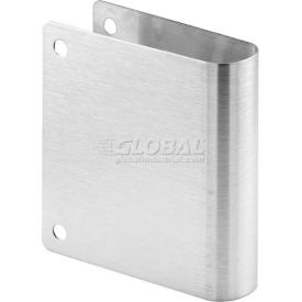 Cover Plate, Round Edge, Stainless Steel, Corner Holes Only - Pkg Qty 6