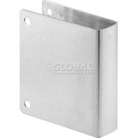 Cover Plate, Square Edge, Stainless Steel, Corner Holes Only - Pkg Qty 6