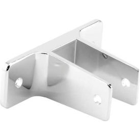 "2 Ear Wall Bracket, 7/8"", Chrome - Pkg Qty 4"