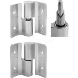 Surface Mount Hinge Set, 3 Pc, LH-In/RH-Out, Cast Stainless Steel