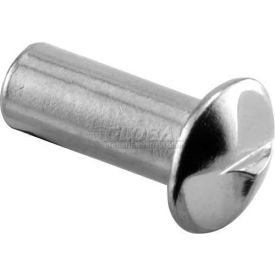 "One Way Barrel Nut, #10-24 X 1/2"", Chrome - Each - Pkg Qty 100"