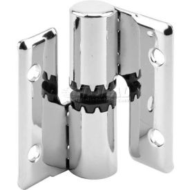 Surface Mount Hinge Set, LH-In/RH-Out, W/Fasteners, Chrome Plated Brass