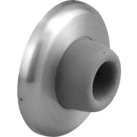 Door Stop, Wall Mount, Brushed Stainless Steel - Pkg Qty 2