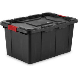 "Sterilite Industrial Tote 14669004 - Black/Racer Red 27 Gal. 30-1/2""L x 20-5/8""W x 15-1/4""H - Pkg Qty 4"