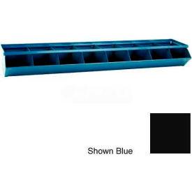 "Stackbin® 3-1SSBK Steel Sectional Hopper Bin Unit, 37""W x 12""D x 4-1/2""H, Black, 6 Compartments"