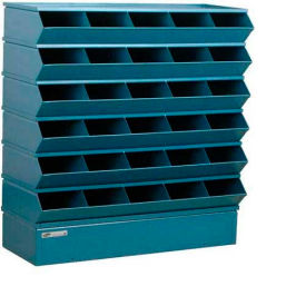 "30 Compartment Sectional Unit, 37""W x 13""D x 36""H - Blue"