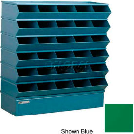 "30 Compartment Sectional Unit, 37""W x 13""D x 36""H - Green"