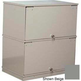 Stackbin® Two-Shelf Lockable X-Ray Storage Cabinet, Gray