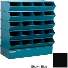 "20 Compartment Sectional Unit, 37""W x 15""D x 43-1/2""H - Black"