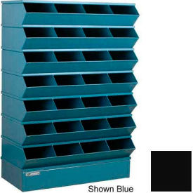 "32 Compartment Sectional Unit, 37""W x 15""D x 58-1/2""H - Black"