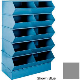 """Stackbin® 3-3SBGY 6"""" High Section Bases For 37""""W x 18-3/4""""D Bins, Gray"""