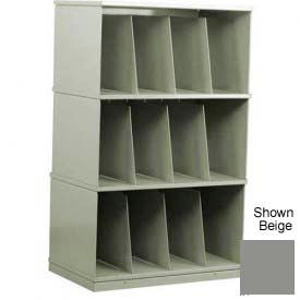 Stackbin® Three-Shelf X-Ray Storage Cabinet, Gray