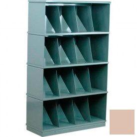 Stackbin® Four-Shelf Medical Record Storage Cabinet, Beige