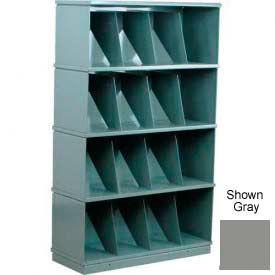 Stackbin® Four-Shelf Medical Record Storage Cabinet, Gray