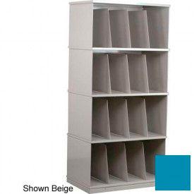 Stackbin® Four-Shelf X-Ray Storage Cabinet, Blue