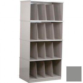 Stackbin® Four-Shelf X-Ray Storage Cabinet, Gray