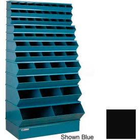 """Stackbin® Steel Stack Bin, 59 Compartment Multi-Size Sectional Unit 37""""W x 24""""D x 76""""H, Black"""