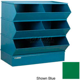 "6 Compartment Steel Sectional Unit, 37""W x 24""D x 33""H - Green"