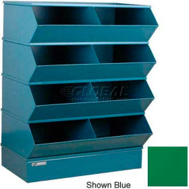 "8 Compartment Steel Sectional Unit, 37""W x 24""D x 44""H - Green"